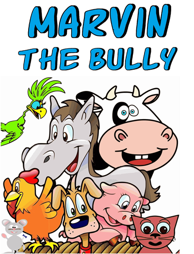 A group of cartoon farm animals