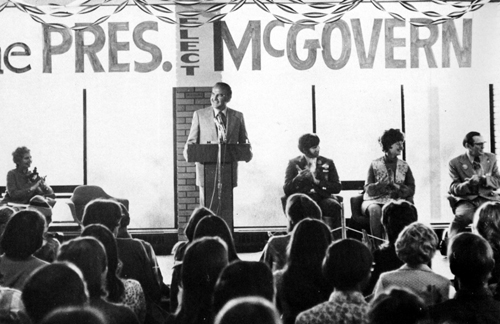 George McGovern giving a speech