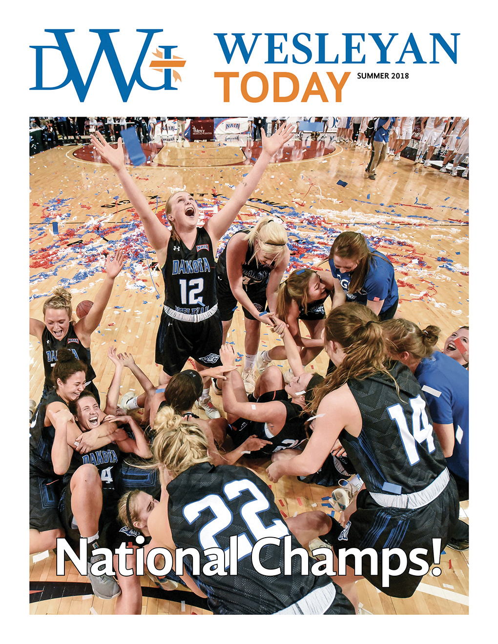 The cover of the summer 2018 edition of the Wesleyan Today.