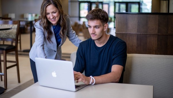 A professor advising an accounting student
