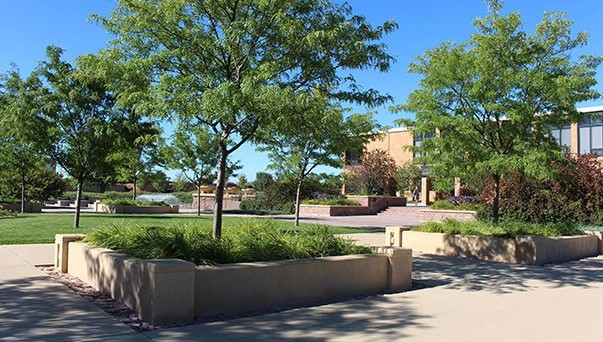 Jackson Plaza on the DWU campus