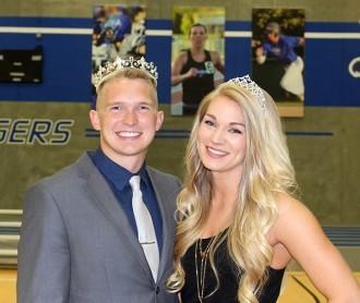 DWU's homecoming king, Dan Mitchell, and homecoming queen, Lauren Tadlock.