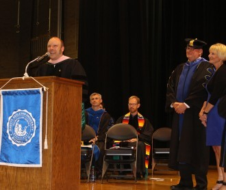 Dr. Clinton Desmond was awarded the prestigious Clarke Award for Teaching Excellence during Commencement.