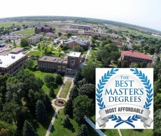 Aerial photo of DWU campus with Best Master's Degrees