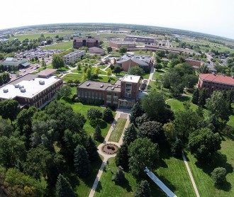 Aerial view of Dakota Wesleyan University