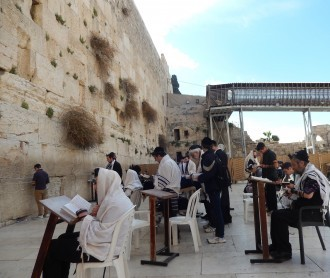 The Western Wall -- shown during DWU's trip to Israel