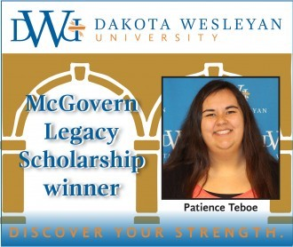 McGovern Legacy Scholar for 2017 is Patience Teboe.