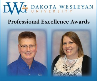Professional Excellence Award-winners Elwin Hohn and Bethany Amundson
