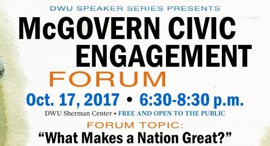 McGovern Forum poster