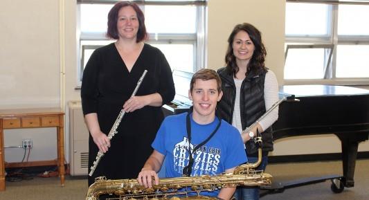 Mellissa Spitzer, Rheanna Pheifer and Bryce Blank, DWU