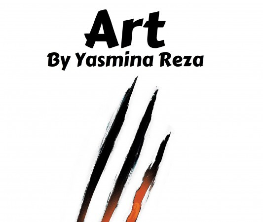 "Poster illustration for play production, ""Art."""