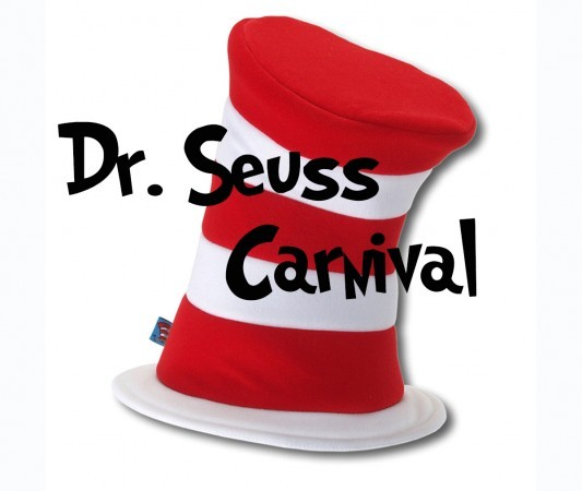 "Cat in the Hat graphic, ""Dr. Seuss Carnival"""