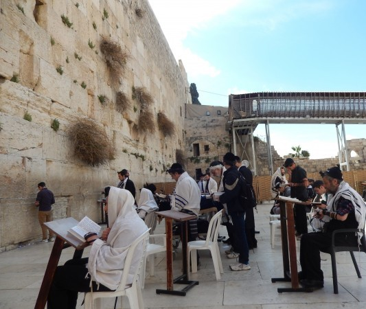 The Western Wall -- shown during DWU
