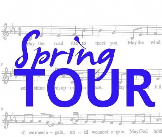 "Graphic: music bars with text: ""Spring Tour"""