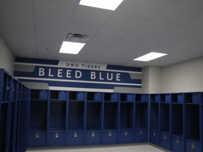 Locker room in the Sports and Wellness Complex
